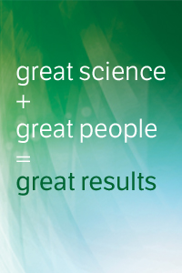 great science + great people = great results