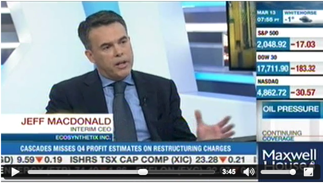 EcoSynthetix CEO Jeff MacDonald on BNN